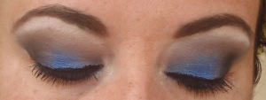 Olho em azul para dia
