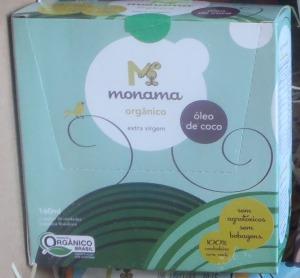 Minha caixinha de sachês de óleo de côco Monama