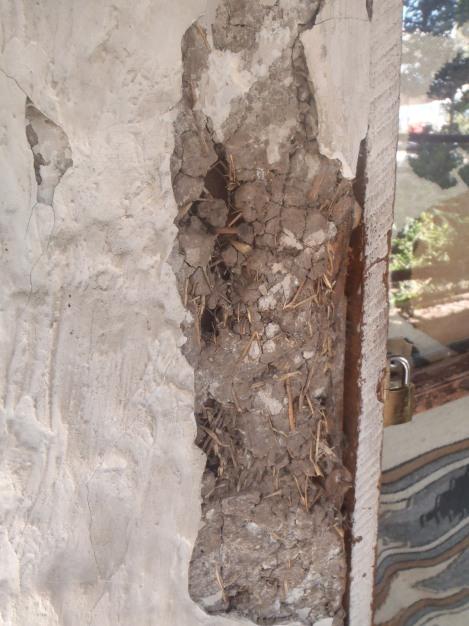Essa é a parede de adobe exposta