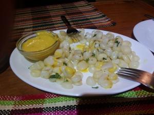 Salada de milho gigante, R$ 6,50