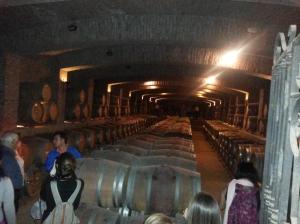 Adega onde envelhecem os vinhos