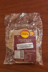 Biscoitinho de arroz sem glútem e sem leite Diaita