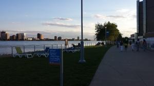 O lindo parque do Rio Detroit